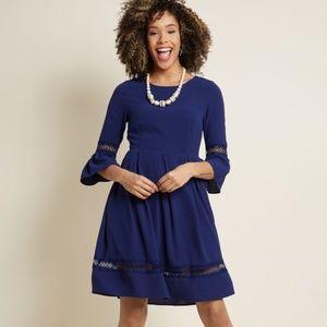 Modcloth Miles of Marvelous Blue A-Line Dress